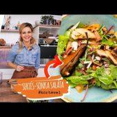 Hogyan készítsek körtés, sertésszalonnás salátát?