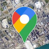 A Google Maps indítása műholdas nézetben