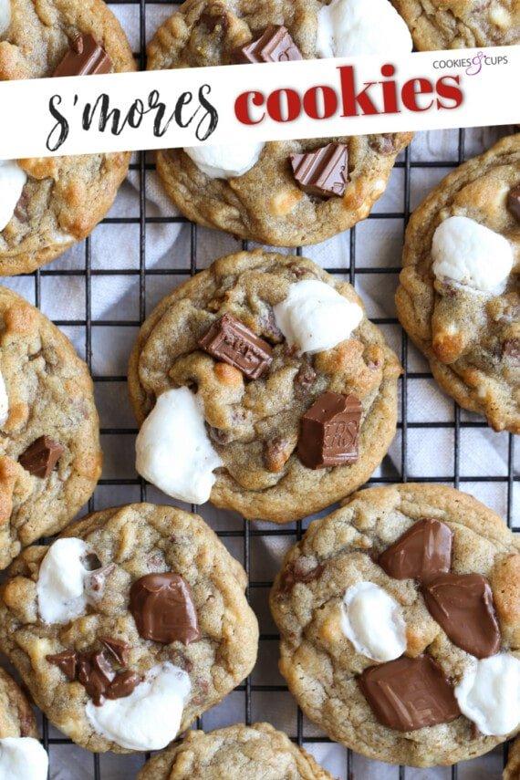 S'mores Cookie Recipe Pinterest Image