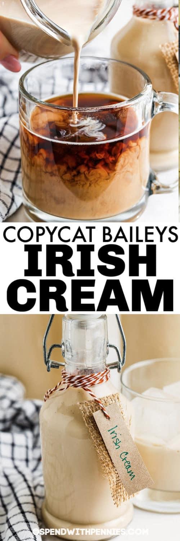 A Copycat Baileys ír krémet egy korsóban, kávéval öntve címmel