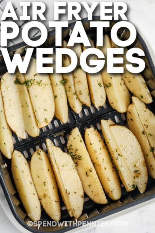 Rozmaring légzsíros burgonya ékek a légsütőben főzéssel, írással