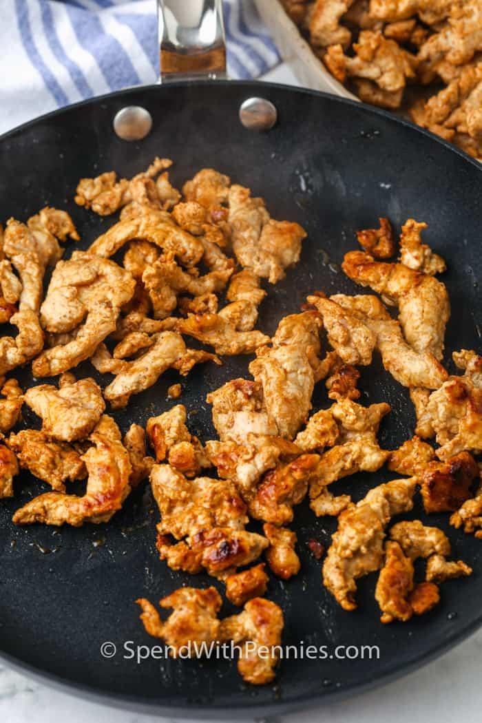 hús főzés a serpenyőben, hogy Pork Fajitas