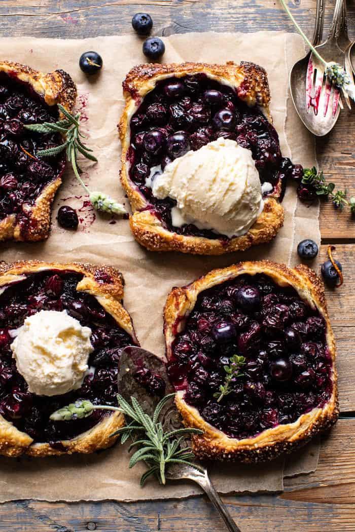 Bursting Blueberry Lemon Thyme Tarts   halfbakedharvest.com