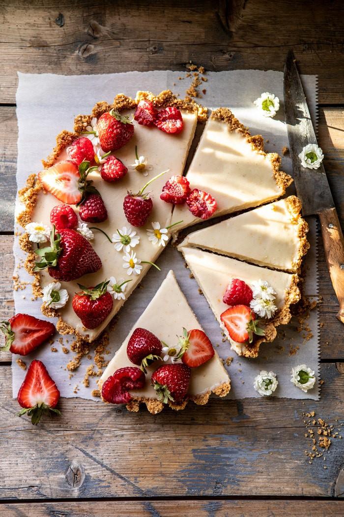 No Fuss Lemon Tart   halfbakedharvest.com #lemontart #dessert #summer #nobake #easyrecipes
