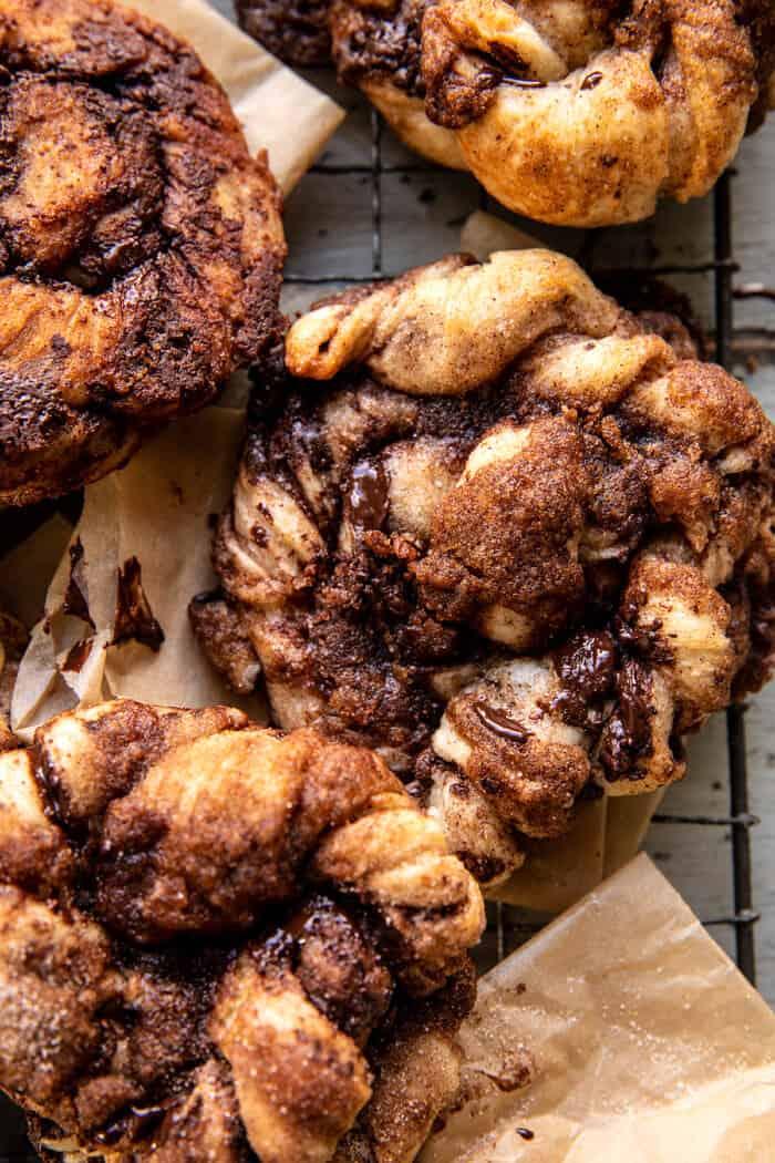 Easy Chocolate Cinnamon Crunch Knots   halfbakedharvest.com