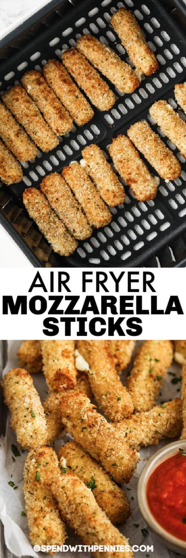 Légsütő Mozzarella Ragaszkodik a légsütőhöz, és címkével van bevonva