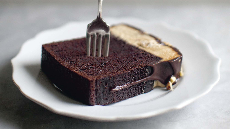 Csokoládé földimogyoró torta