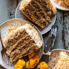 Kókusz pekándió karamellás vaj torta  halfbakedharvest.com