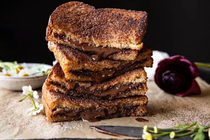 5 perces csokoládé fahéjas cukros pirítós |  halfbakedharvest.com