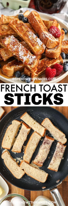 főzés francia pirítós botokat lemezes edénnyel és címmel