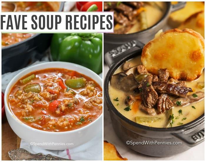 kétféle leves tálban