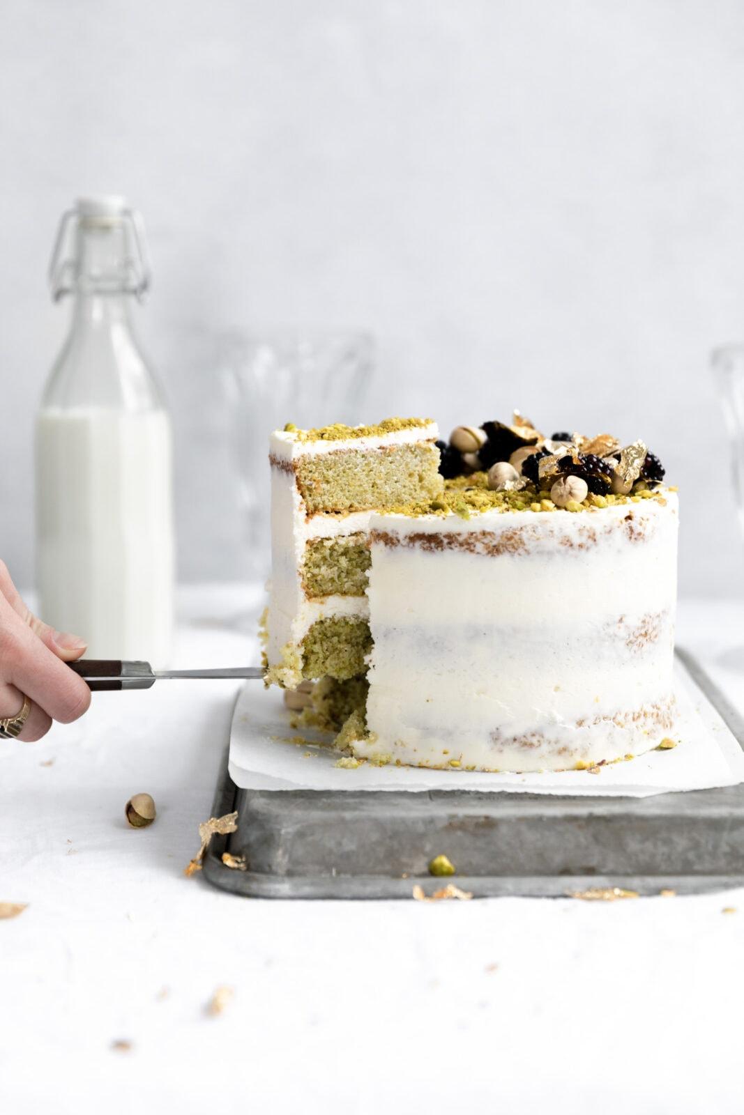 házi pisztácia torta