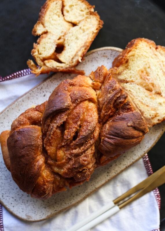 Cooled cinnamon babka.
