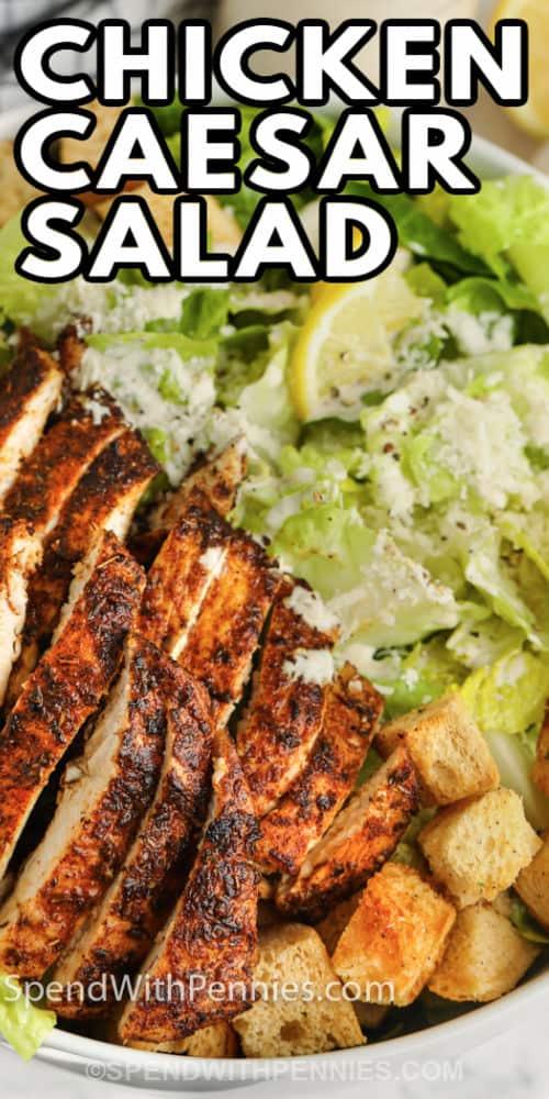 Csirke cézár saláta címmel