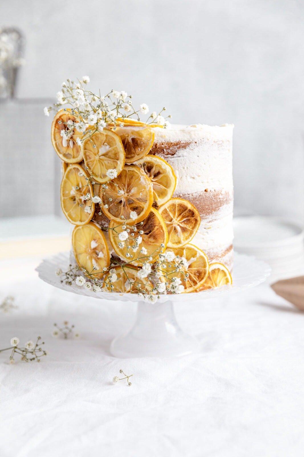 citrom réteg torta citromos körettel