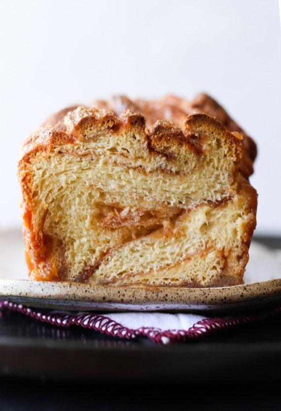 Cinnamon sweet bread loaf.