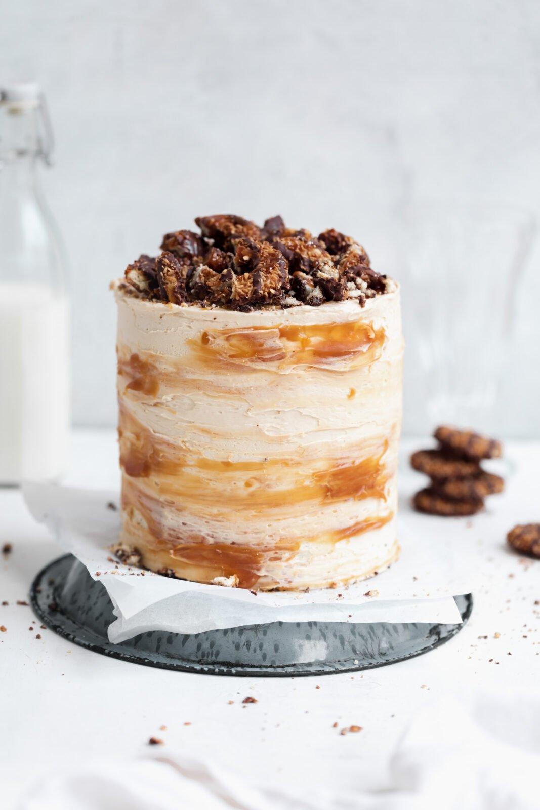szamoa torta karamellás vajkrém