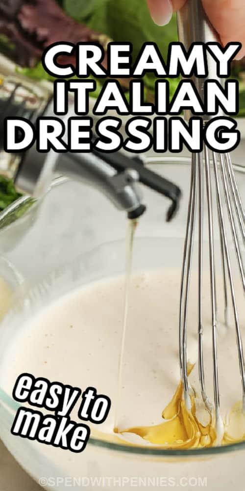 olajat adva a tejszínes olasz öltözködéshez írással