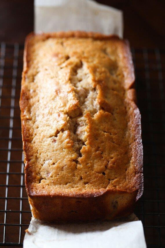 bread loaf on a cooling rack