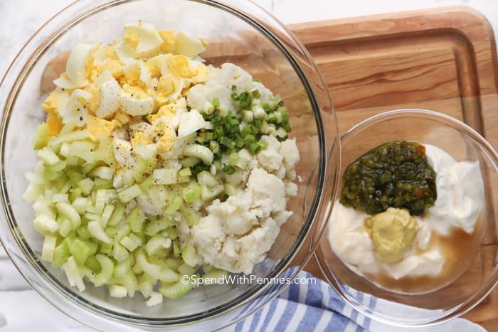 krumplipüré saláta hozzávalói