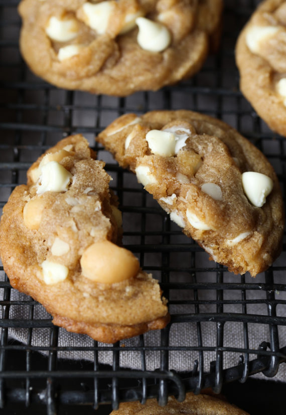 White Chocolate Macadamia Nut Cookies are an easy classic cookie recipe