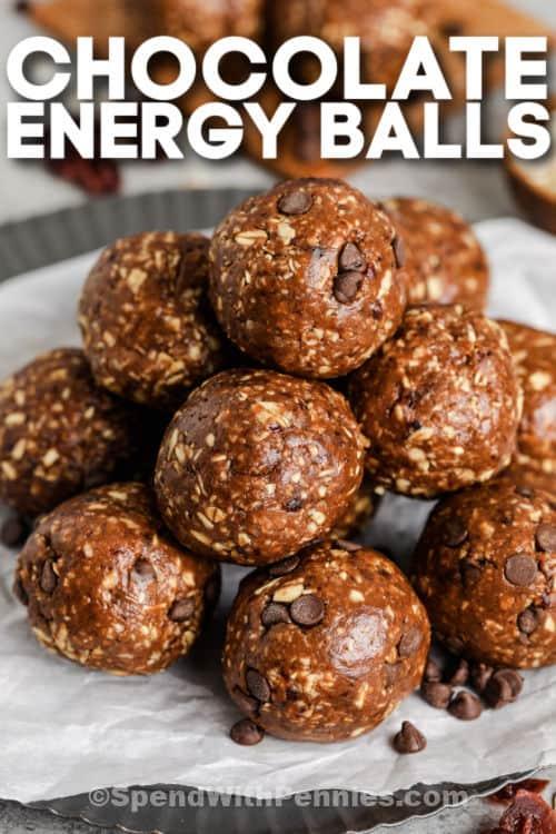 bevonatos csokoládé energiagolyók írással