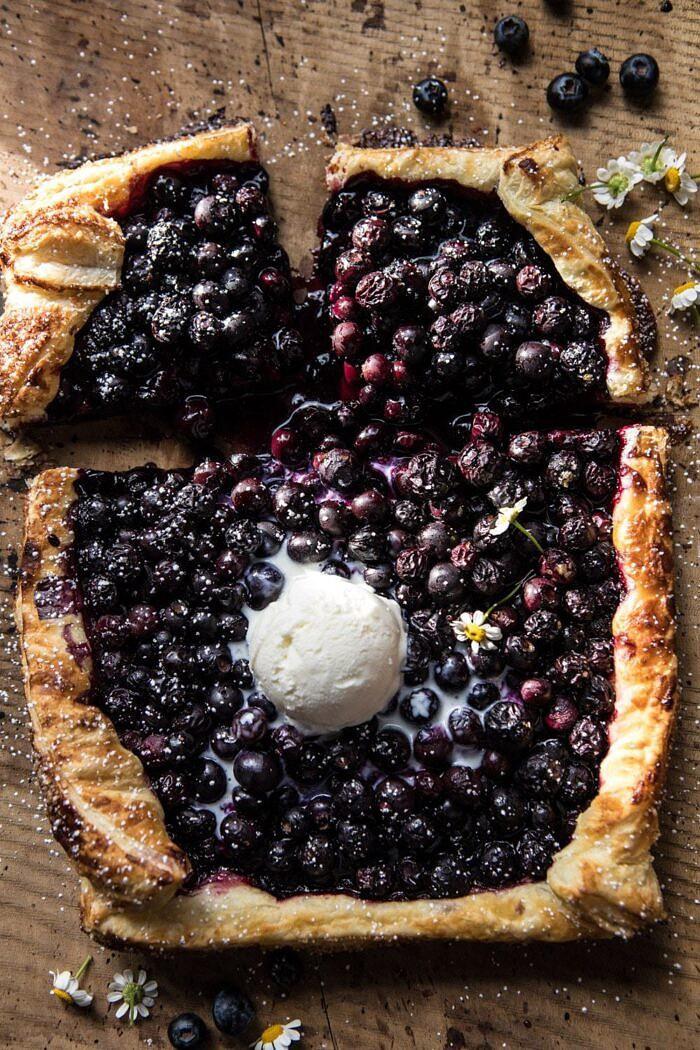 Blueberry Ricotta Chamomile Galette   halfbakedharvest.com #blueberries #summer #easyrecipes