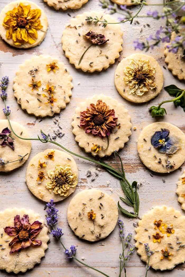 Lavender Lemon Sugar Cookies   halfbakedharvest.com