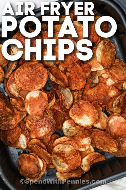 főtt Air Fryer burgonya chips, írással