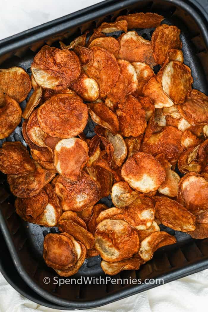 Levegősütőben főtt burgonya chips
