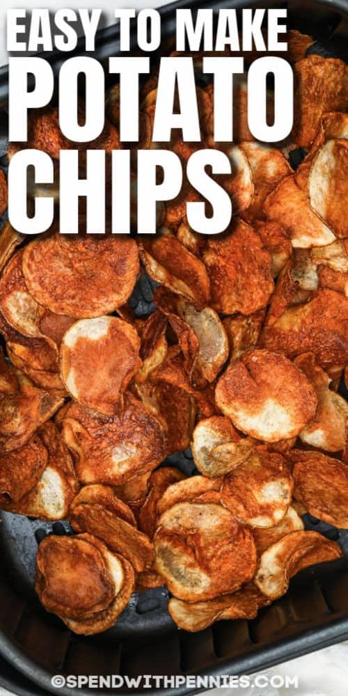 főtt Air Fryer burgonya chips a légsütőben címmel