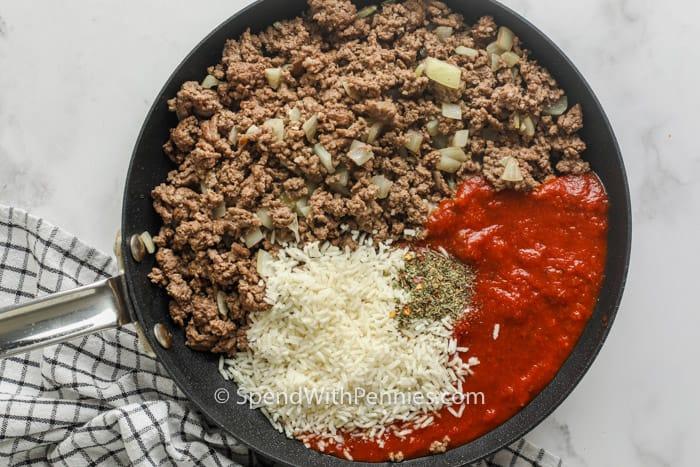 főzési hozzávalók a Air Fryer töltött paprika elkészítéséhez