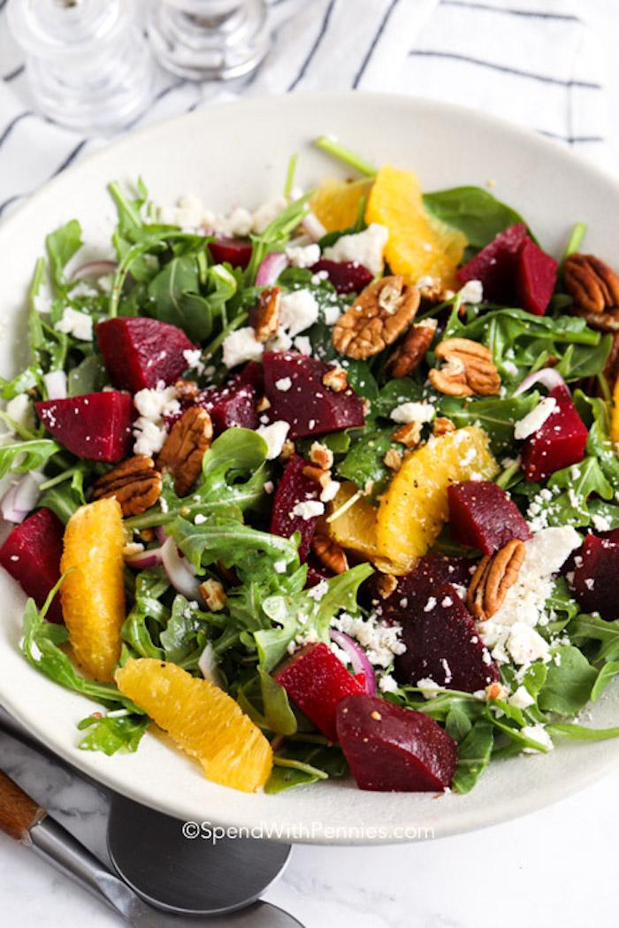 Sült saláta kitûnõ répa és narancs