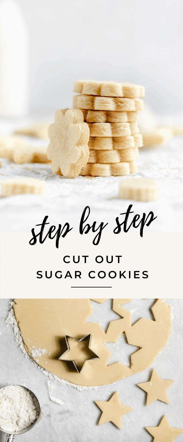 Get back to basics wtih these perfect cut out sugar cookie. Dense, and chewy, with a crispy edge and a gooey center, you won't be disappointed!