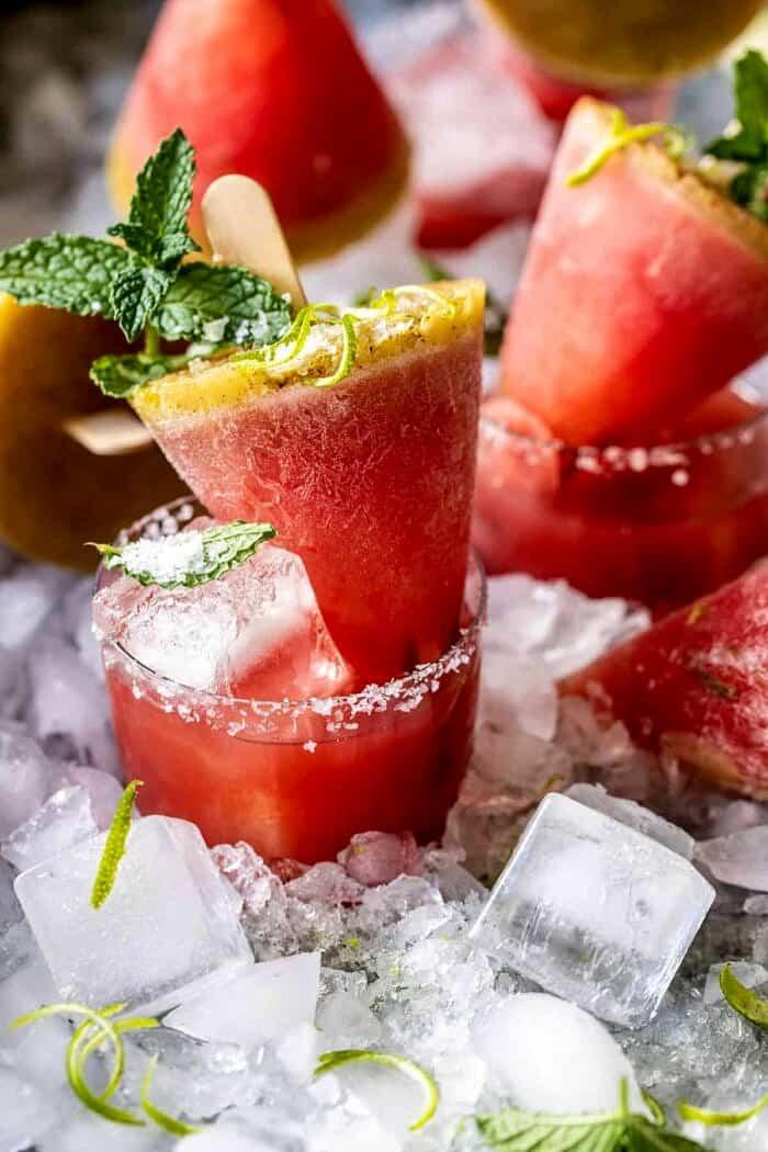 Sós fűszeres görögdinnye Margarita Popsicles |  halfbakedharvest.com