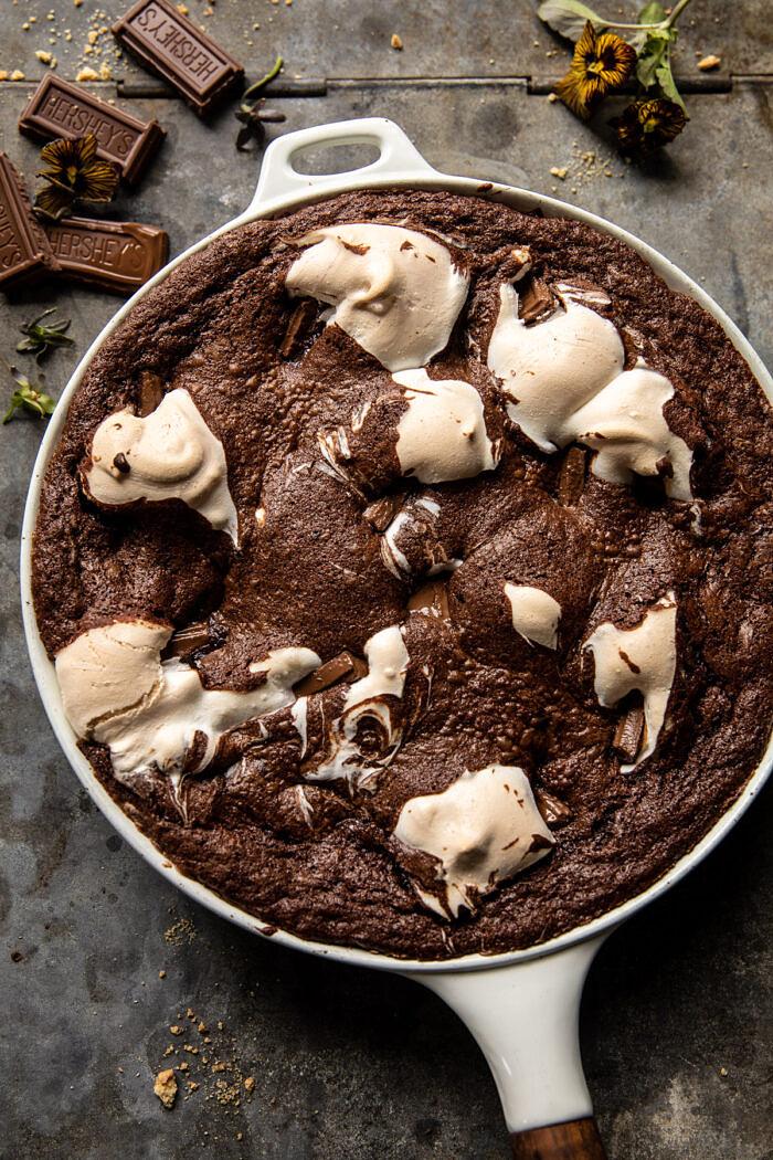 Gooey S'mores Skillet Brownie |  halfbakedharvest.com