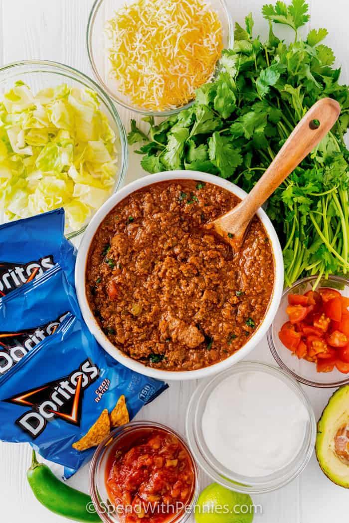 hozzávalók a Walking Tacos elkészítéséhez