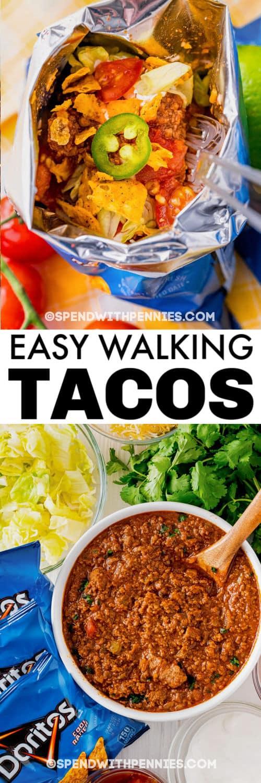 Hozzávalók a Walking Tacos kész étkezéshez címmel