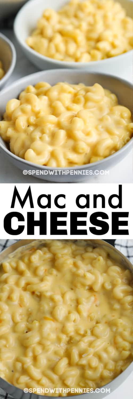 15 perc Mac és sajt edény, lemezezett edénnyel és írással
