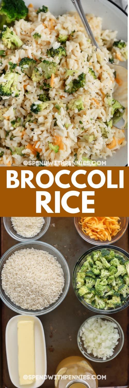 brokkoli rizs és összetevők szöveggel