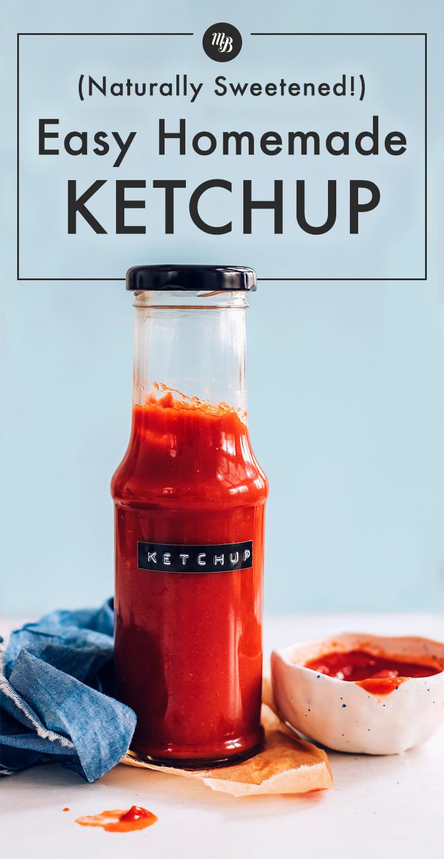 Üveg könnyű házi ketchupot