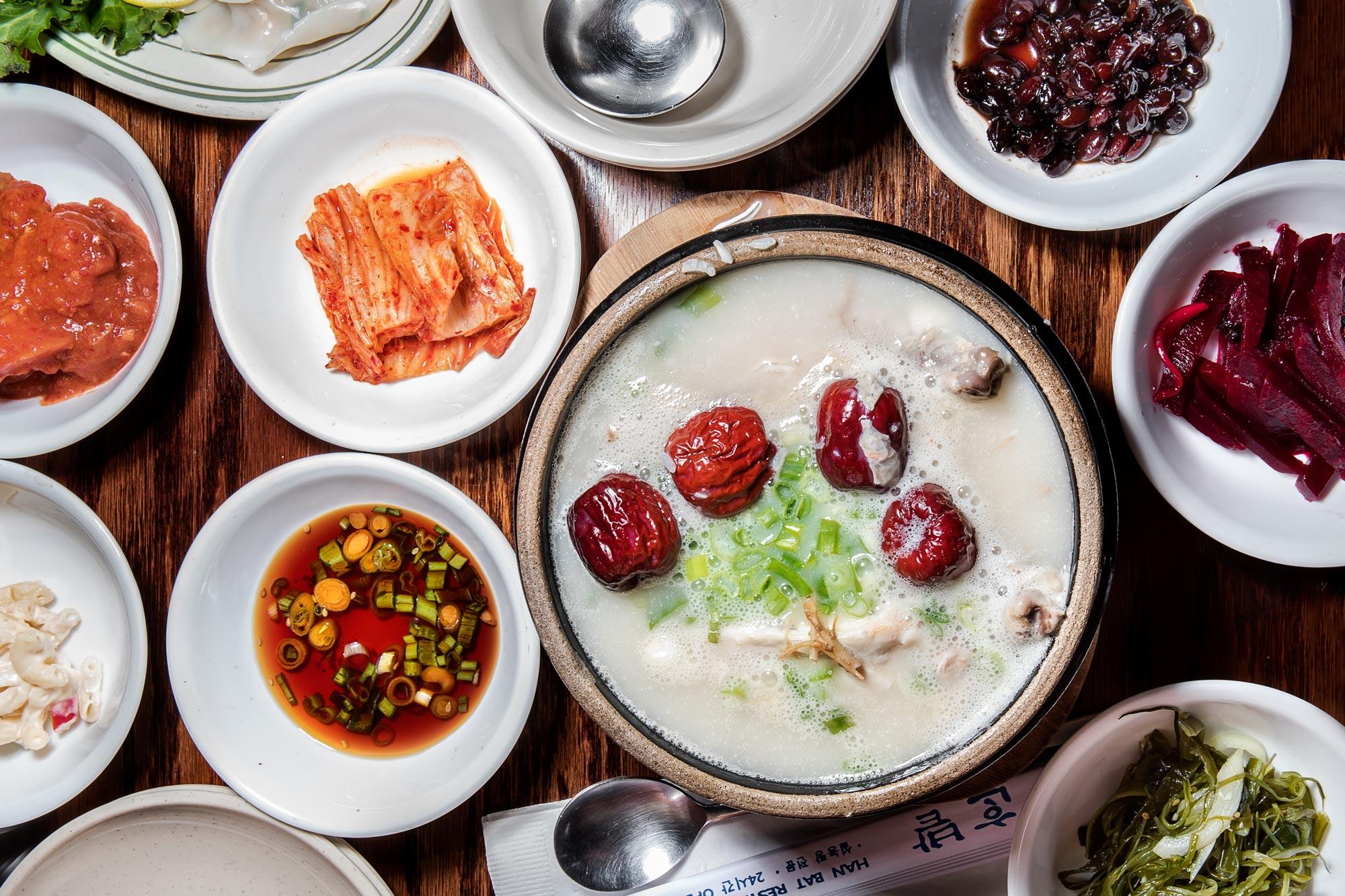 Samgyetang koreai ginseng csirkeleves recept