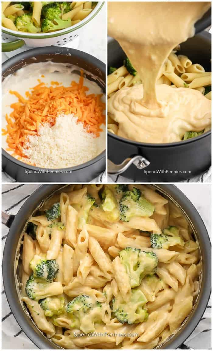 lépések a brokkoli tészta elkészítéséhez