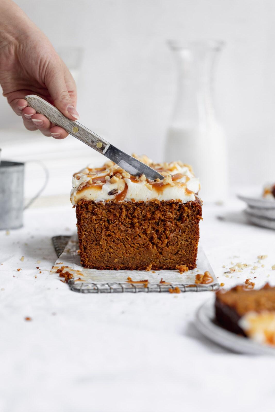 sárgarépa torta kenyér torta krémsajt cukormáz