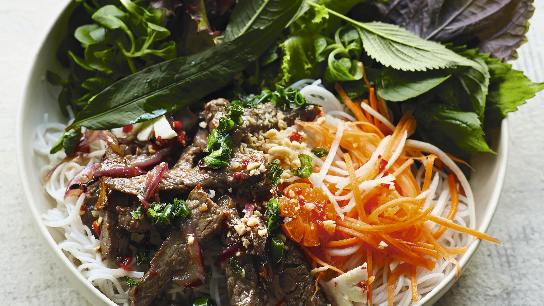 Citromfű marhahús saláta