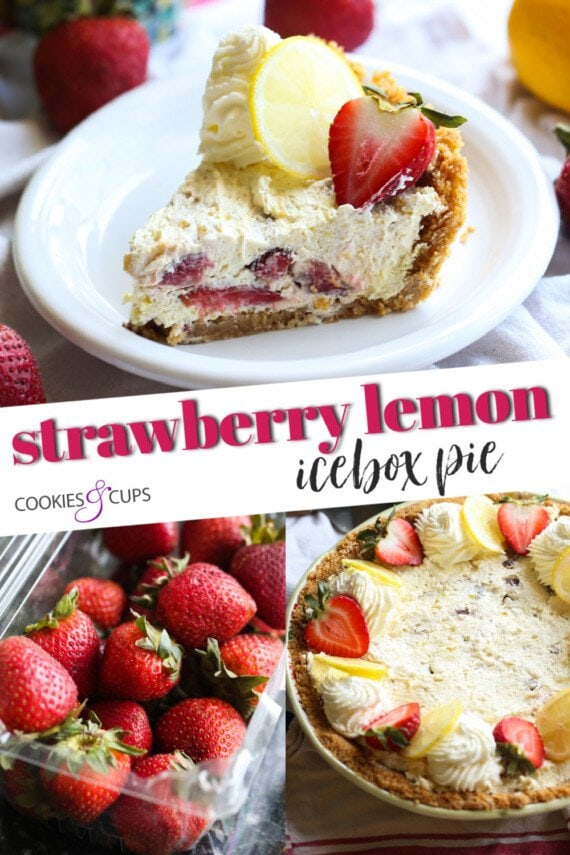 Strawberry Lemon Icebox Pie Pinterest kép