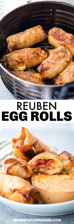 A Reuben tojástekercsek a légsütőben és címmel vannak bevonva