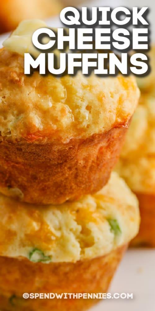 gyors sajt Muffin olvasztott vajjal szöveggel