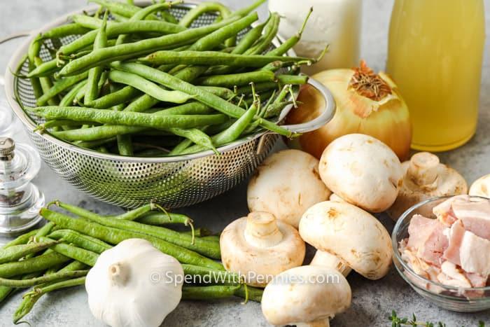 hozzávalók a házi zöldbab rakott elkészítéséhez
