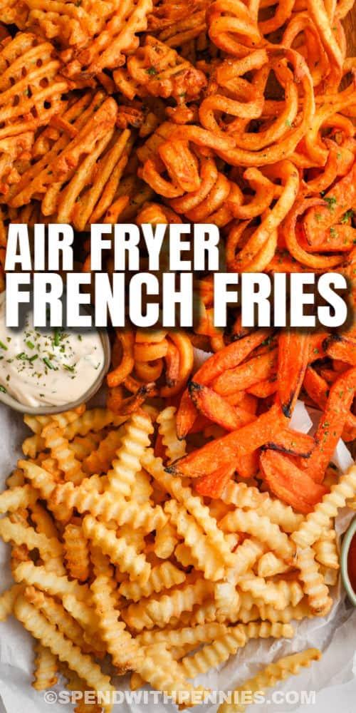 főtt Air Fryer Fagyasztott hasábburgonya írással